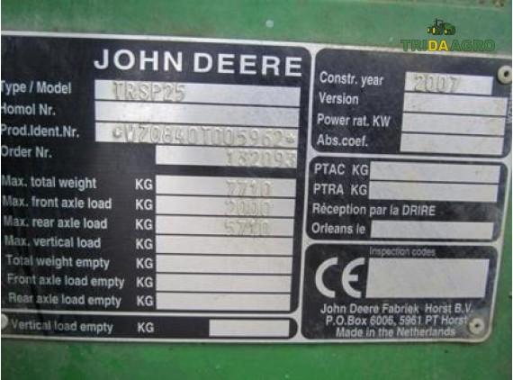 Опрыскиватель JOHN DEERE 840